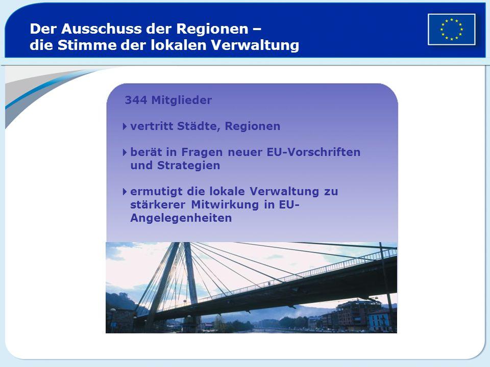 Der Ausschuss der Regionen – die Stimme der lokalen Verwaltung