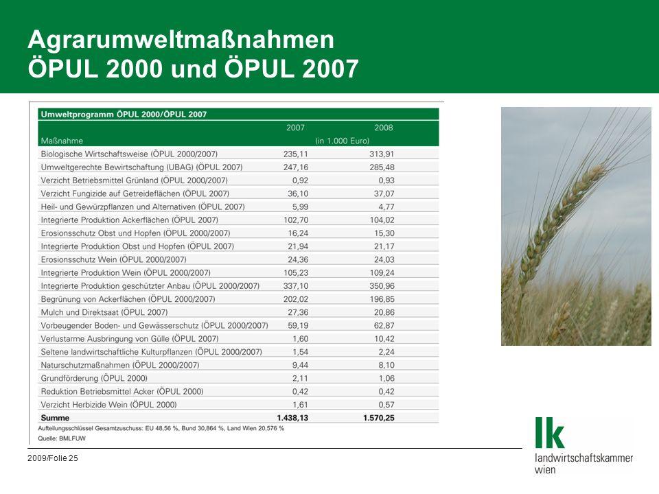 Agrarumweltmaßnahmen ÖPUL 2000 und ÖPUL 2007