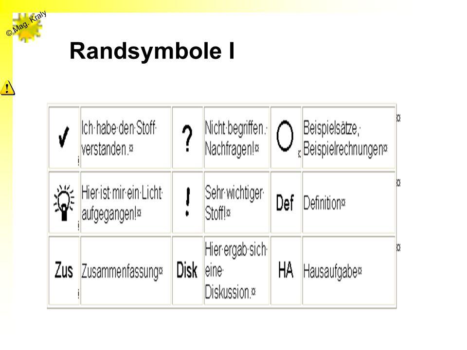 Randsymbole I