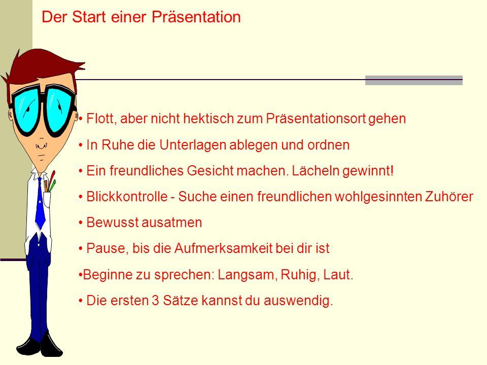 Der Start einer Präsentation