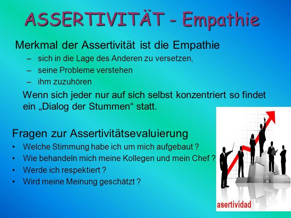 ASSERTIVITÄT - Empathie