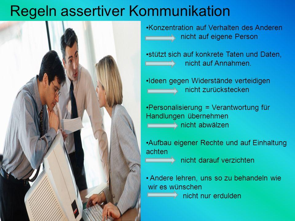 Regeln assertiver Kommunikation