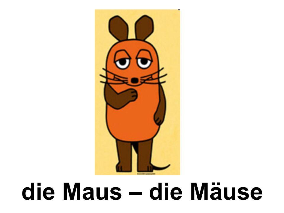 die Maus – die Mäuse