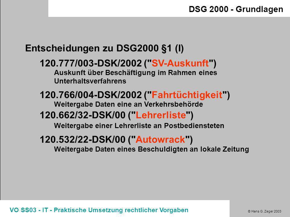 Entscheidungen zu DSG2000 §1 (I) 120.777/003-DSK/2002 ( SV-Auskunft )