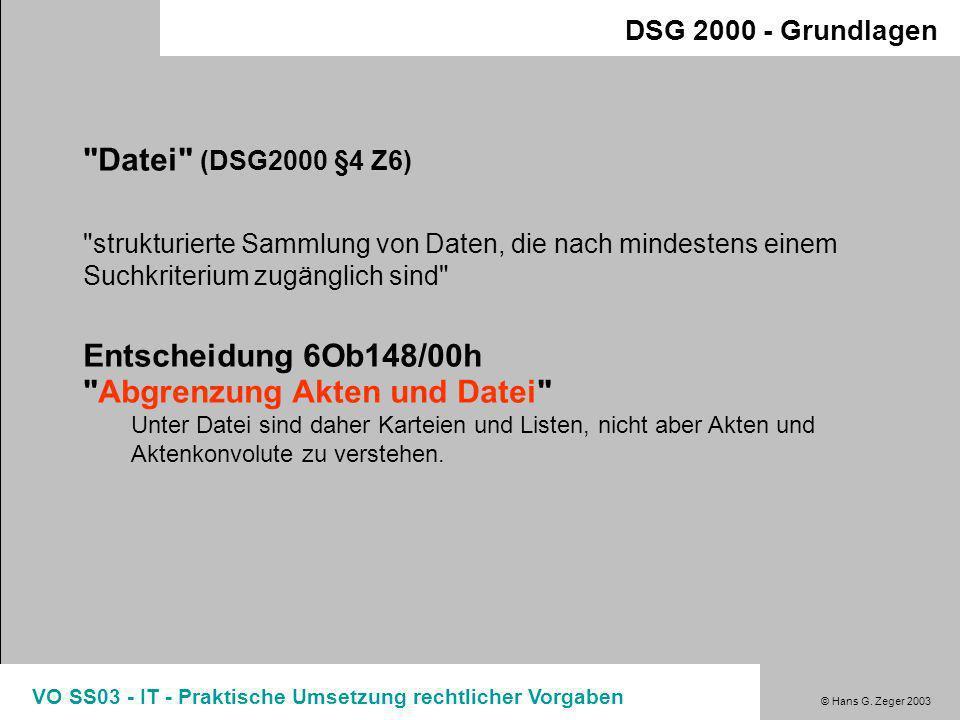 Entscheidung 6Ob148/00h Abgrenzung Akten und Datei