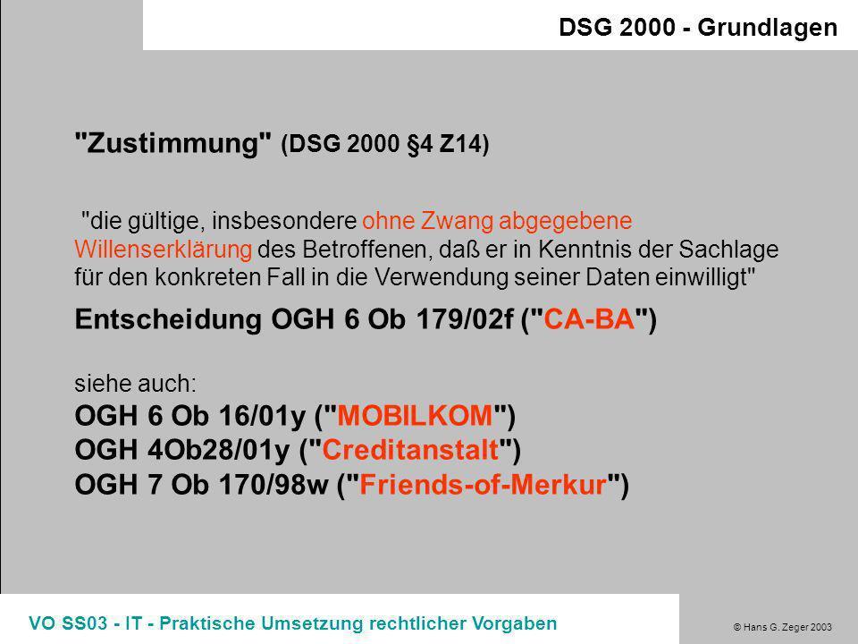 Entscheidung OGH 6 Ob 179/02f ( CA-BA )