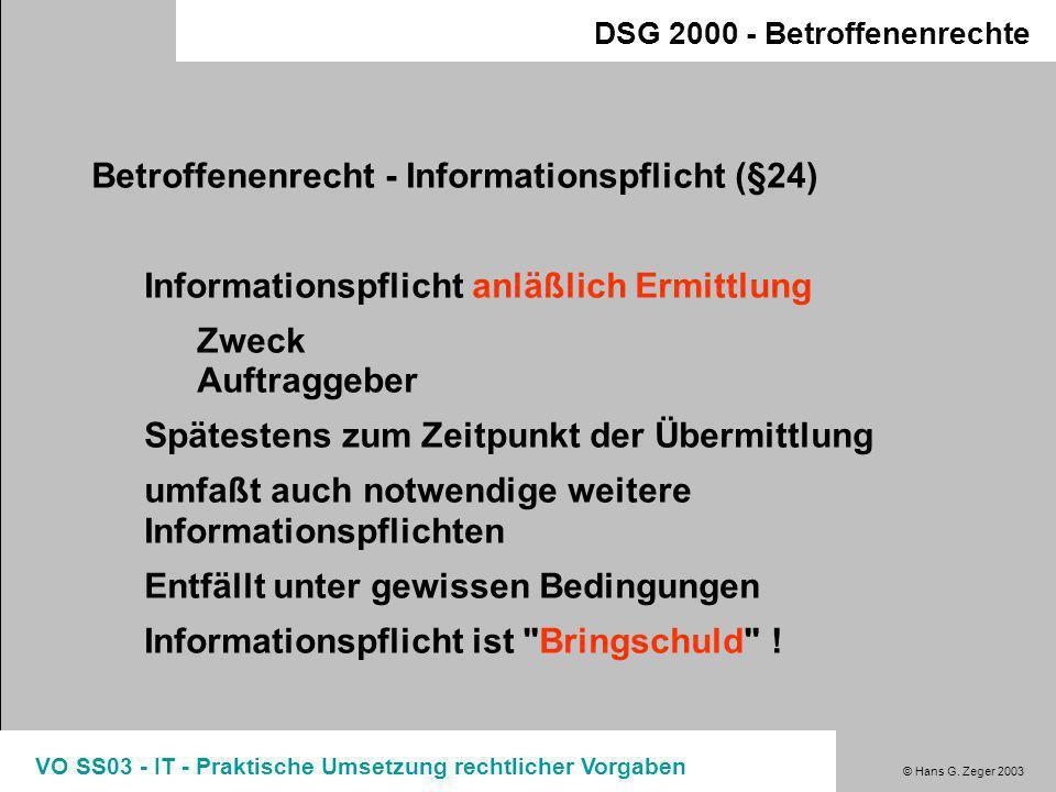 Betroffenenrecht - Informationspflicht (§24)