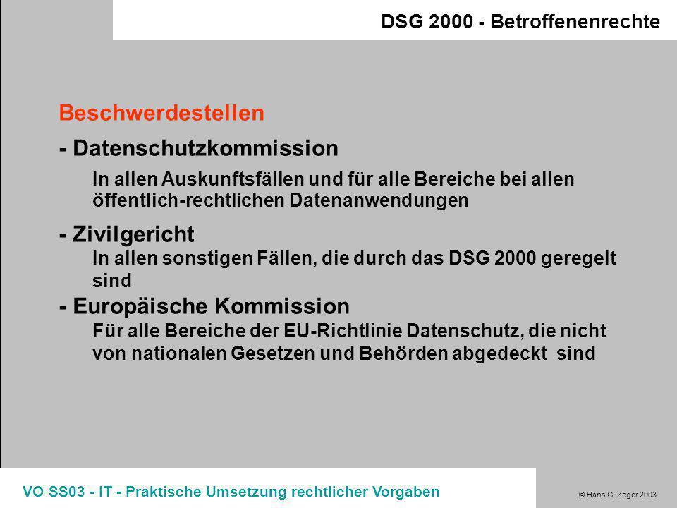 - Datenschutzkommission