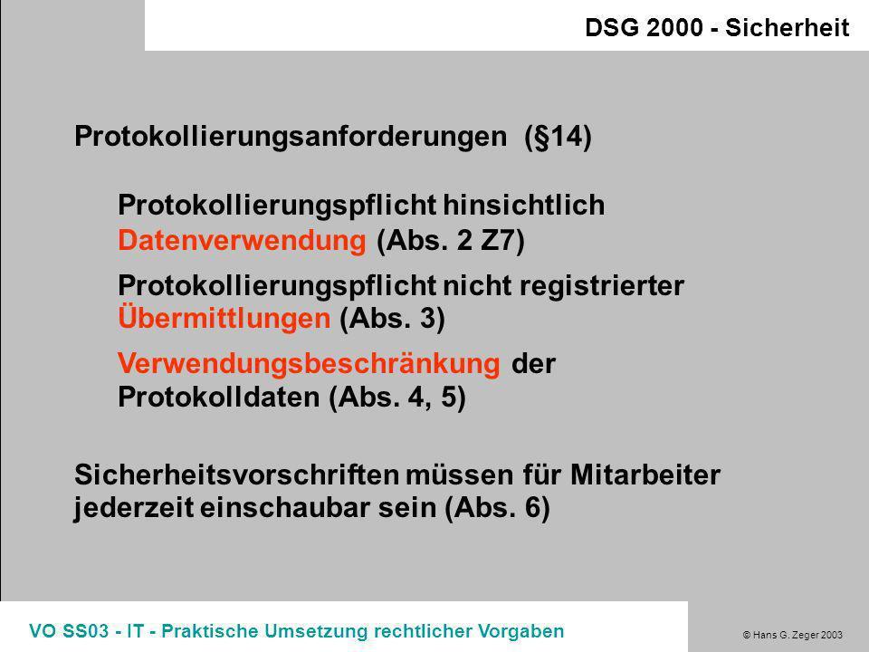 Protokollierungsanforderungen (§14)