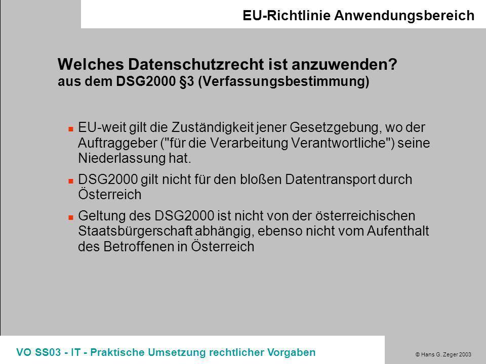 EU-Richtlinie Anwendungsbereich