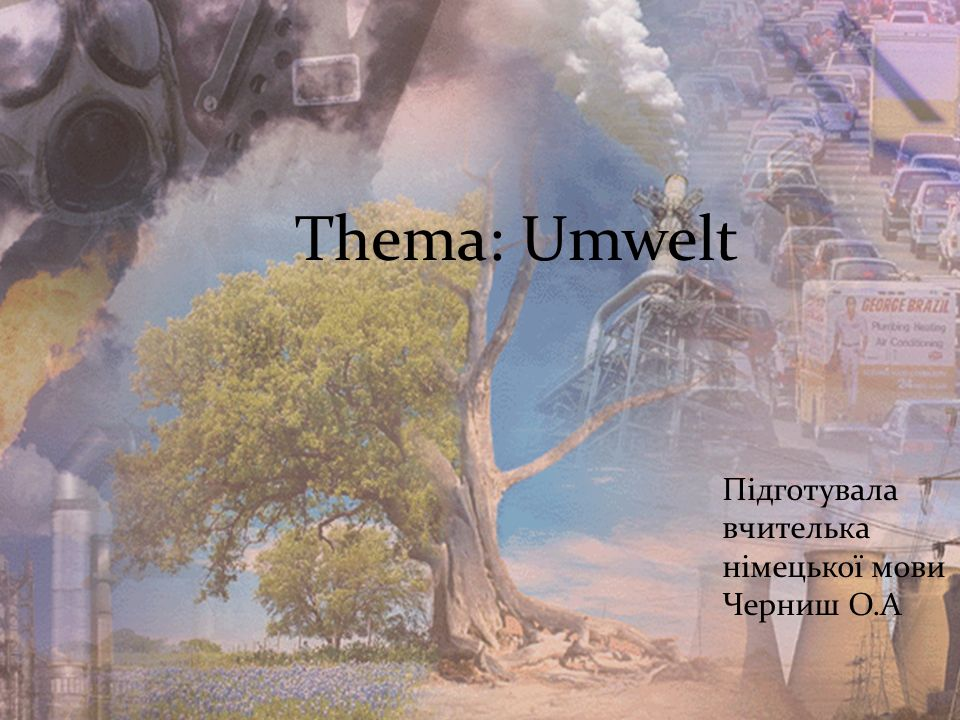 Thema: Umwelt Підготувала вчителька німецької мови Черниш О.А