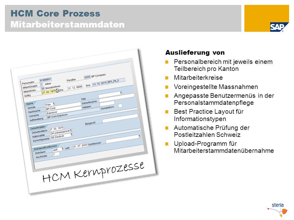 HCM Kernprozesse HCM Core Prozess Mitarbeiterstammdaten