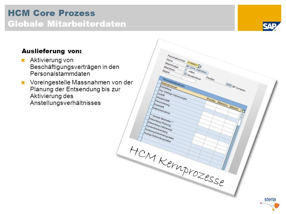 HCM Core Prozess Globale Mitarbeiterdaten