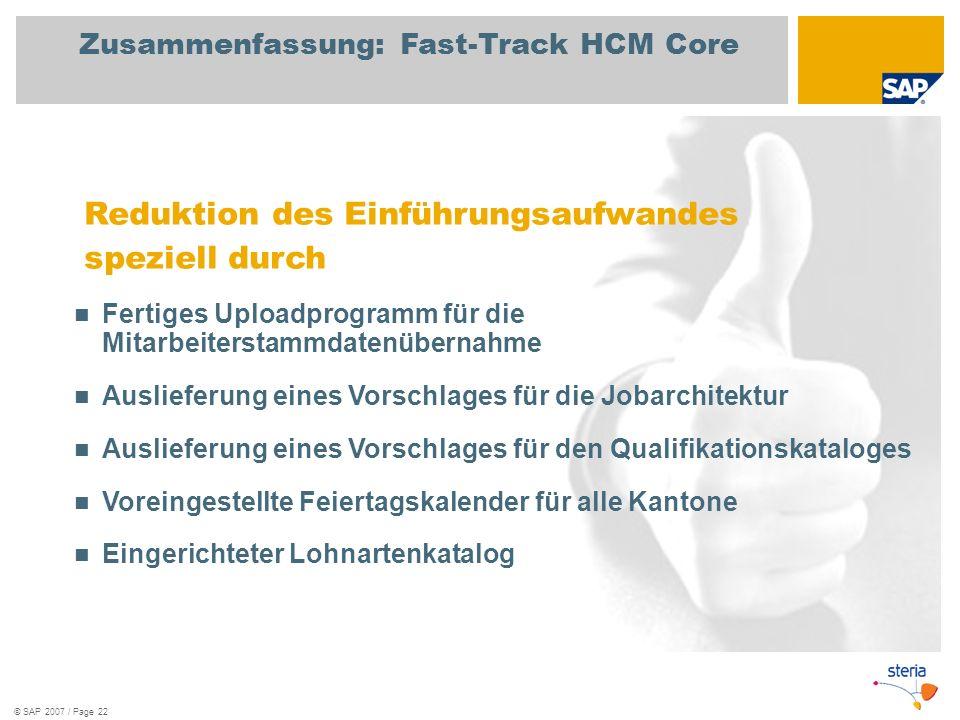 Zusammenfassung: Fast-Track HCM Core