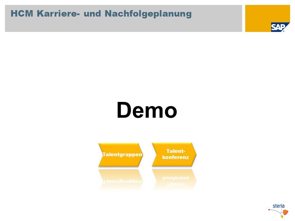 Demo HCM Karriere- und Nachfolgeplanung Talent- Talentgruppen