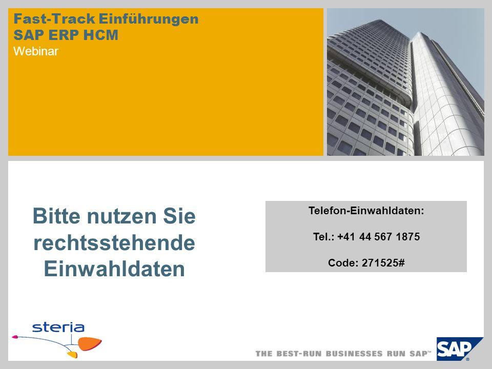 Fast-Track Einführungen SAP ERP HCM Webinar