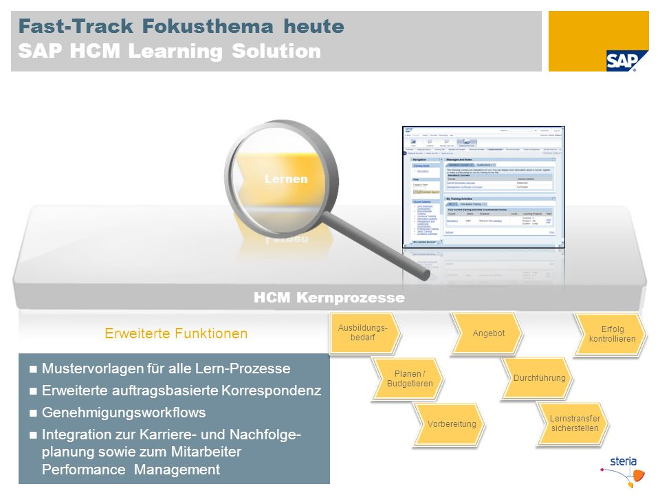 Fast-Track Fokusthema heute SAP HCM Learning Solution