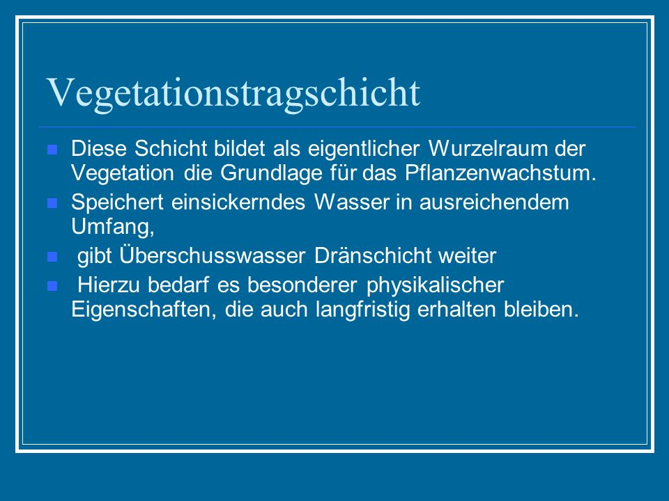 Vegetationstragschicht