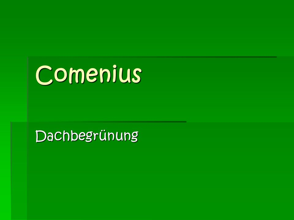 Comenius Dachbegrünung