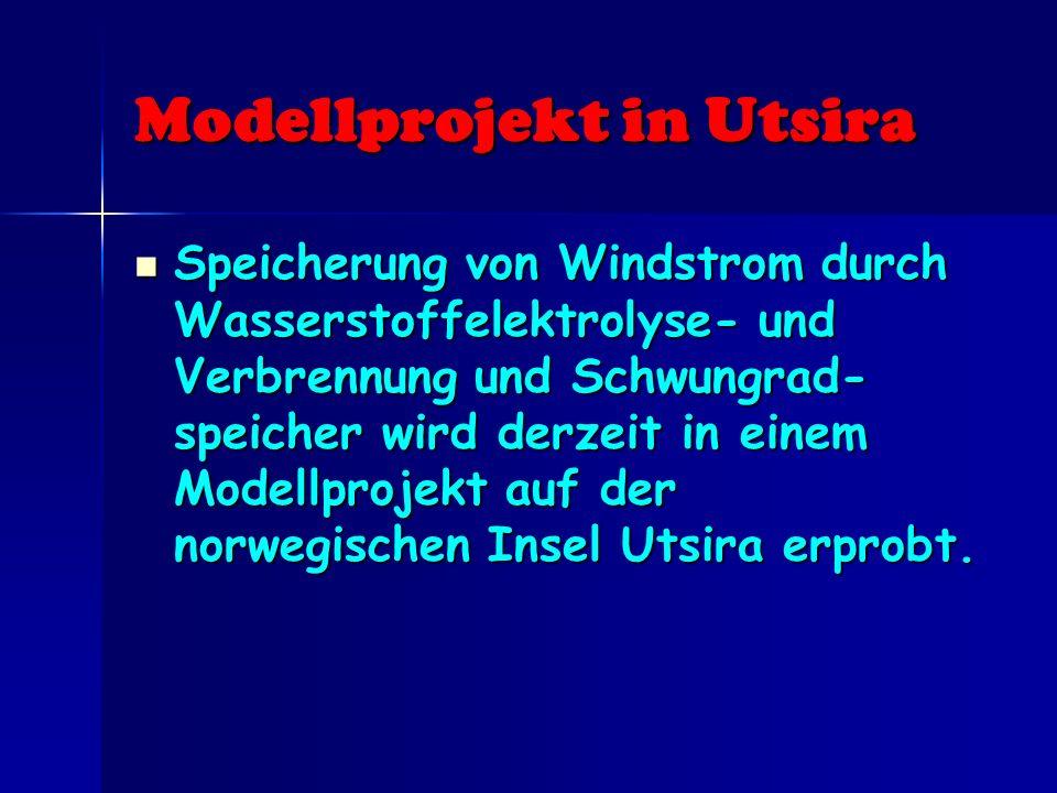 Modellprojekt in Utsira