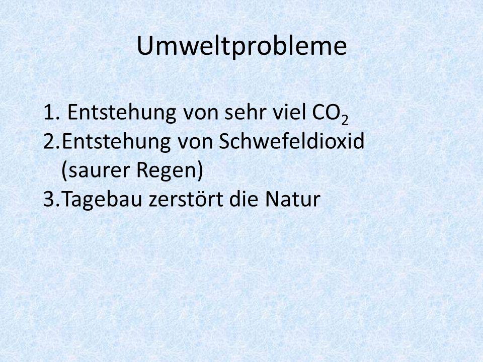 Umweltprobleme Entstehung von sehr viel CO2
