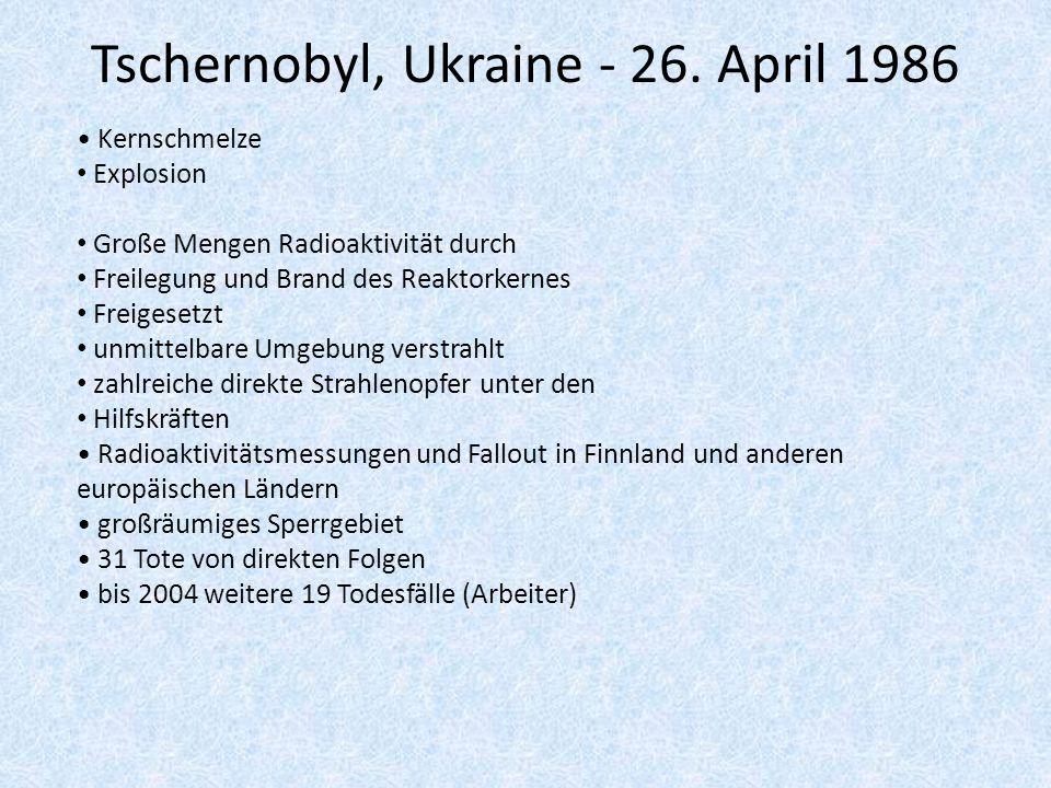 Tschernobyl, Ukraine - 26. April 1986