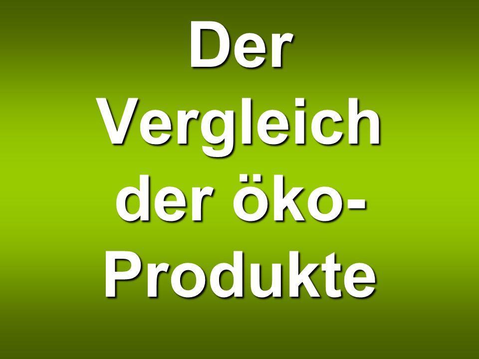 Der Vergleich der öko-Produkte