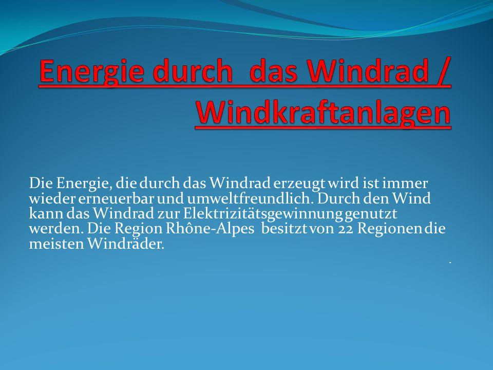Energie durch das Windrad / Windkraftanlagen