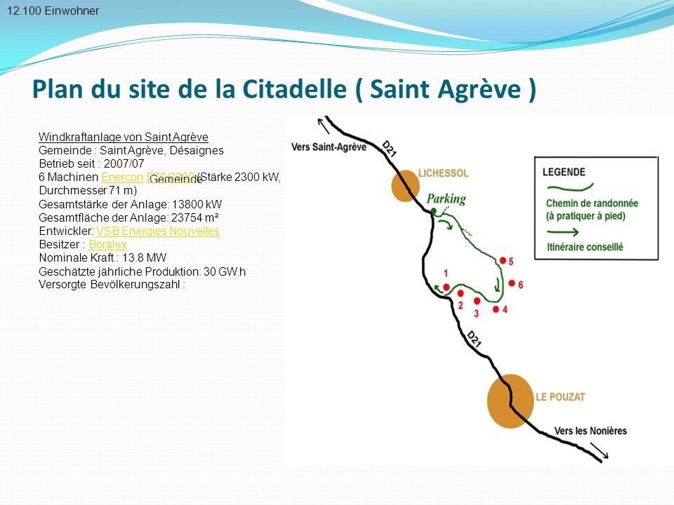 Plan du site de la Citadelle ( Saint Agrève )