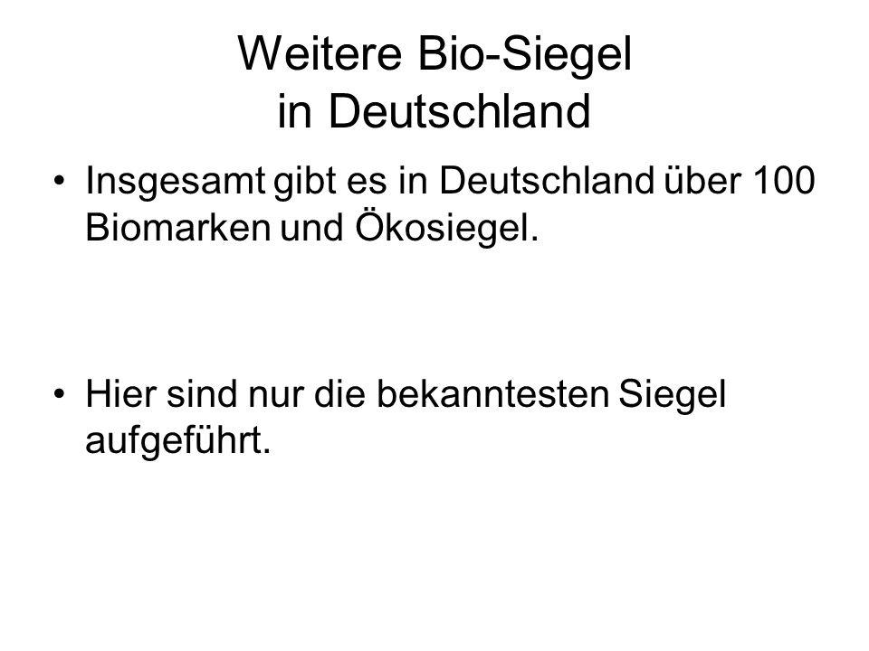Weitere Bio-Siegel in Deutschland