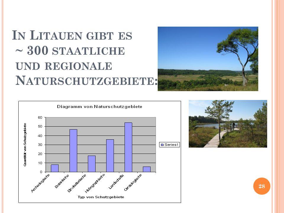 In Litauen gibt es ~ 300 staatliche und regionale Naturschutzgebiete:
