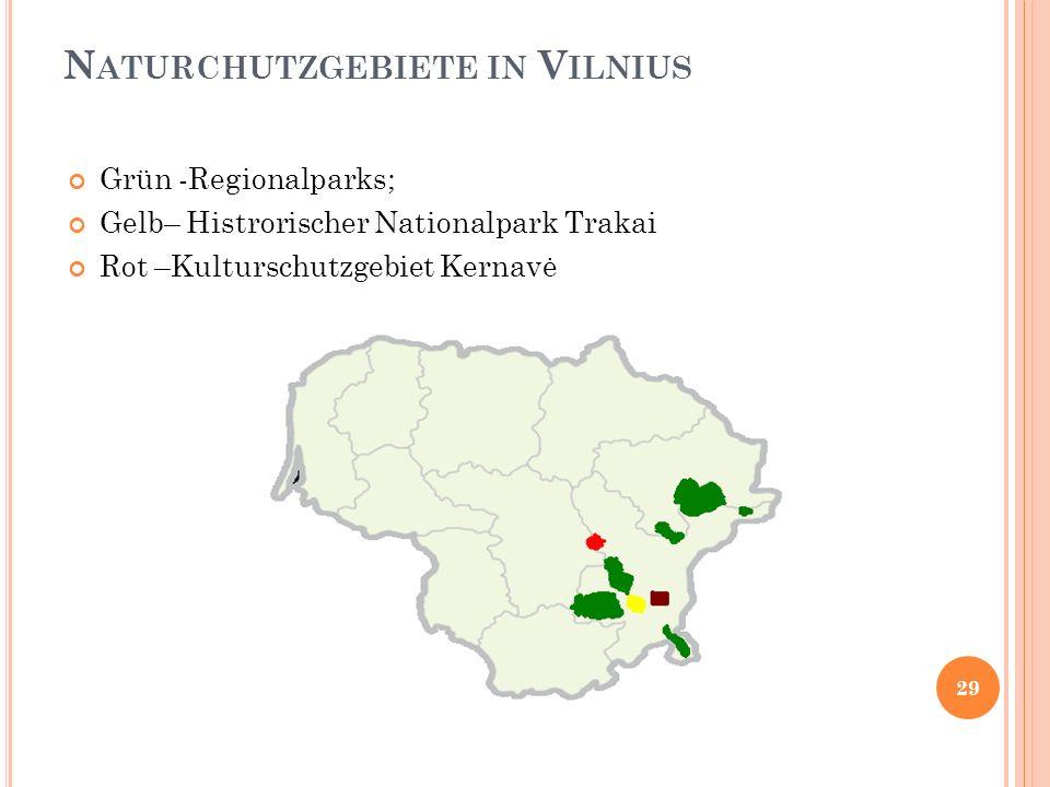 Naturchutzgebiete in Vilnius