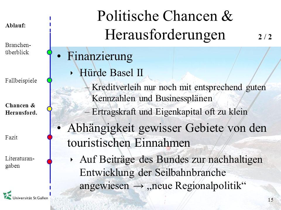 Politische Chancen & Herausforderungen