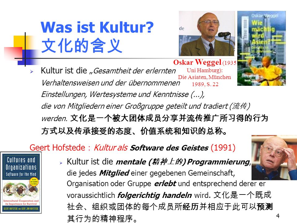 Oskar Weggel (1935 Uni Hamburg): Die Asiaten, München 1989, S. 22