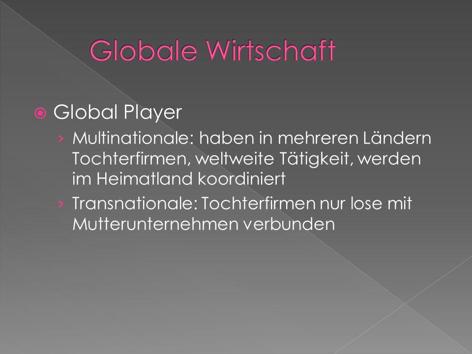 Globale Wirtschaft Global Player