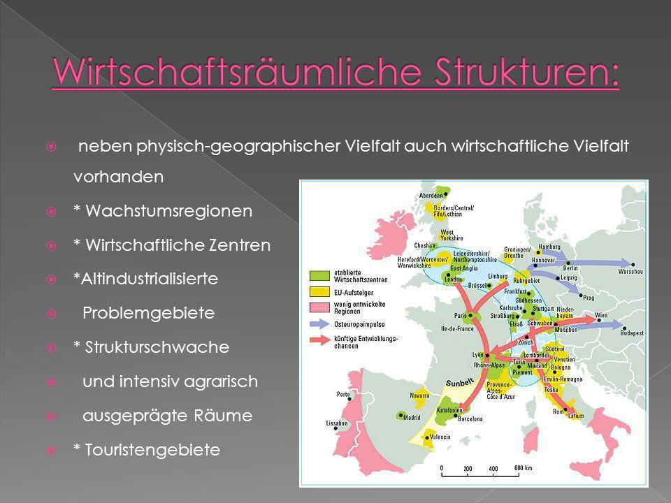 Wirtschaftsräumliche Strukturen: