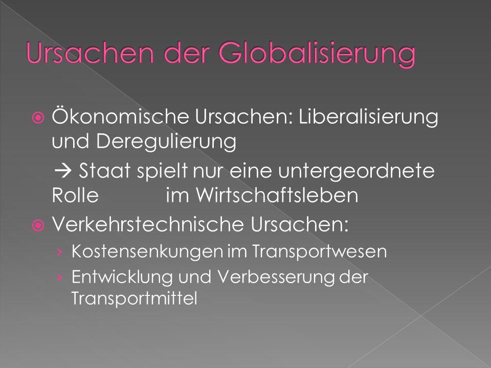 Ursachen der Globalisierung