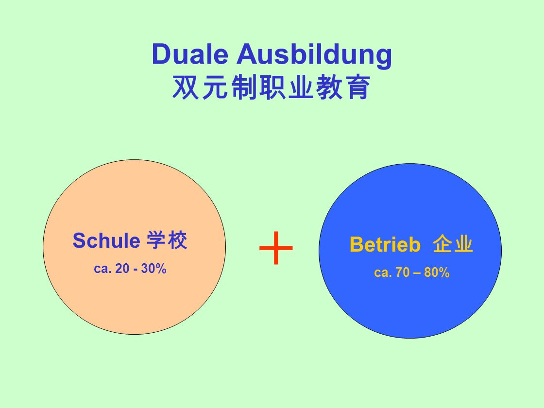 Duale Ausbildung 双元制职业教育