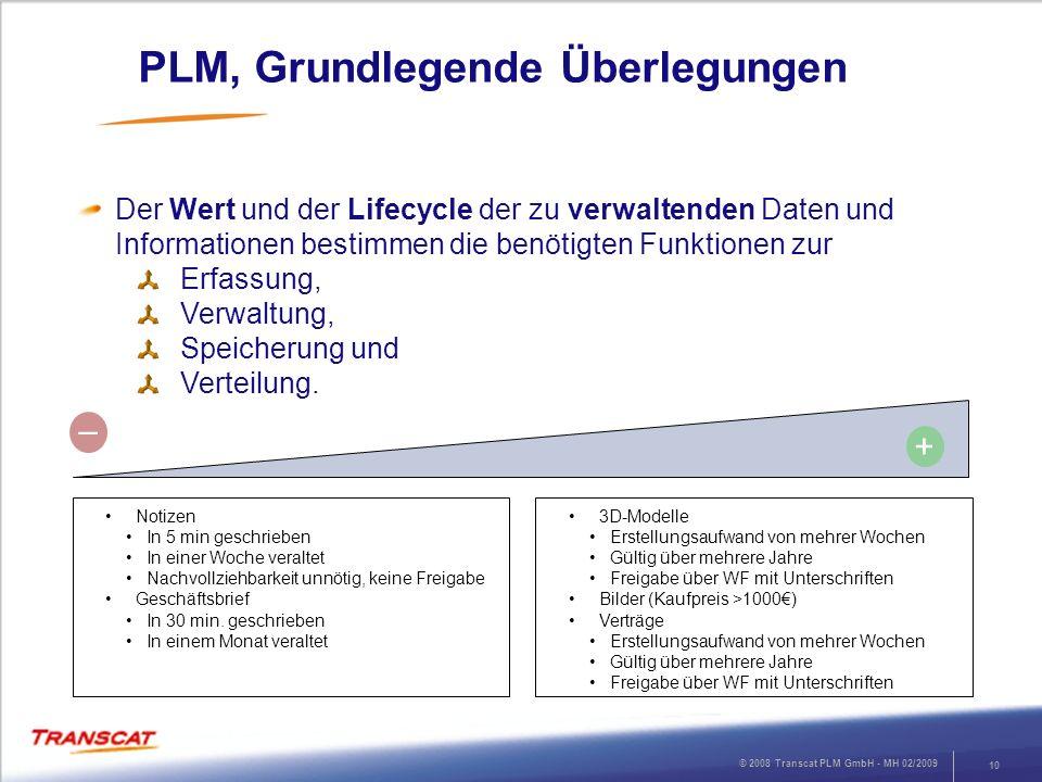 PLM, Grundlegende Überlegungen