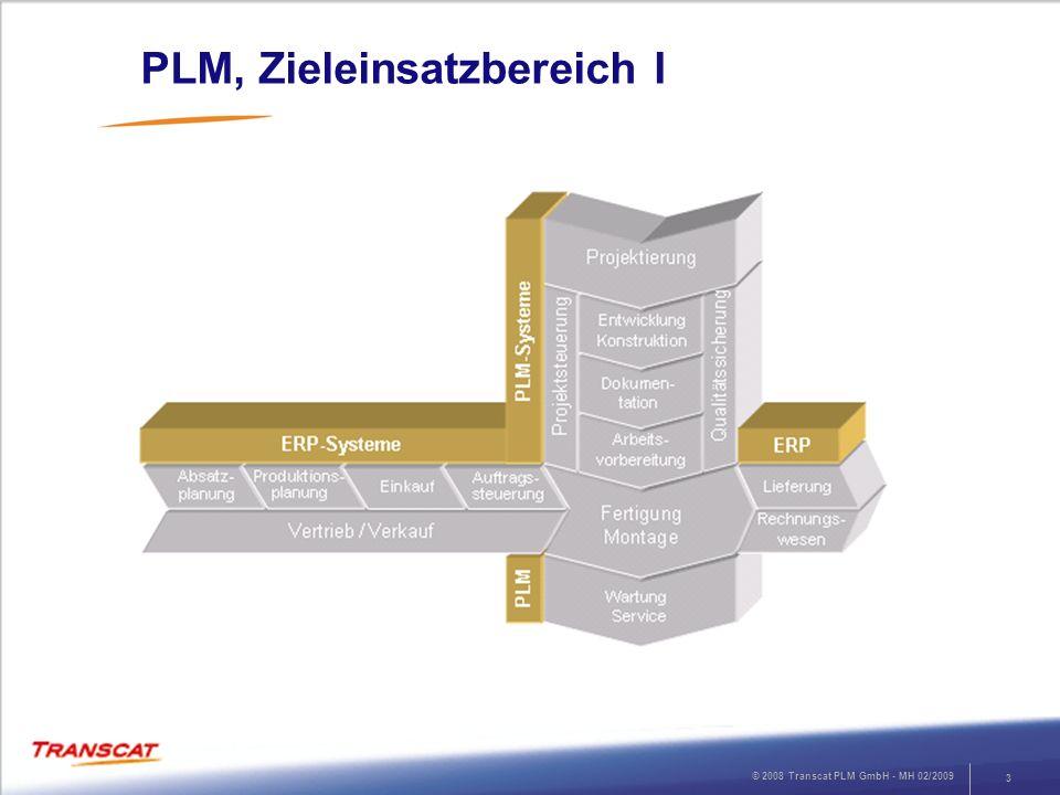PLM, Zieleinsatzbereich I