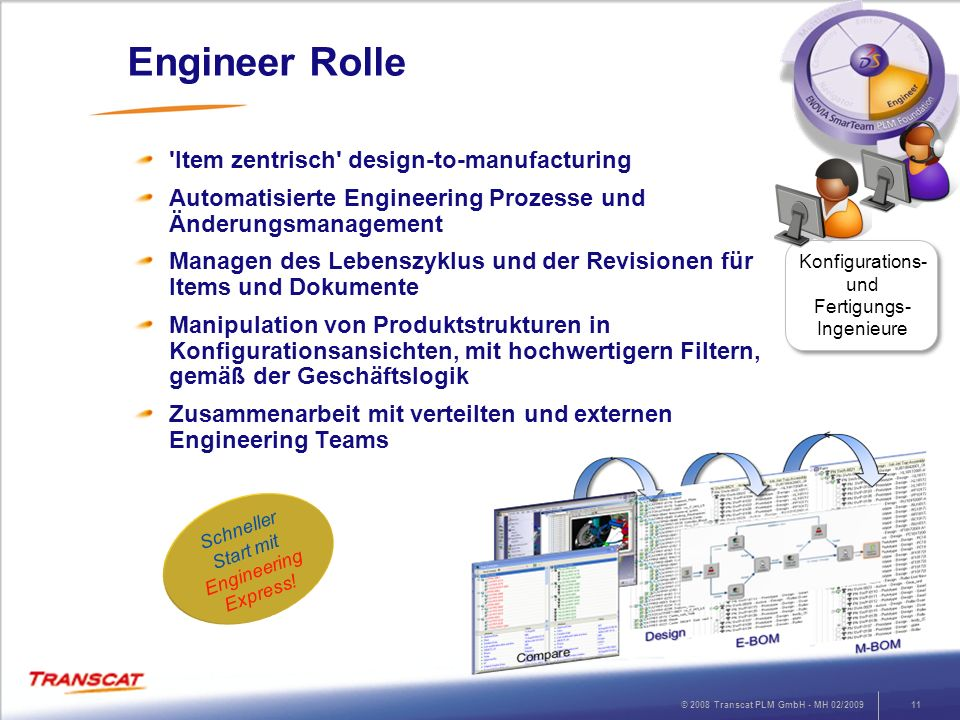 Engineer Rolle Item zentrisch design-to-manufacturing