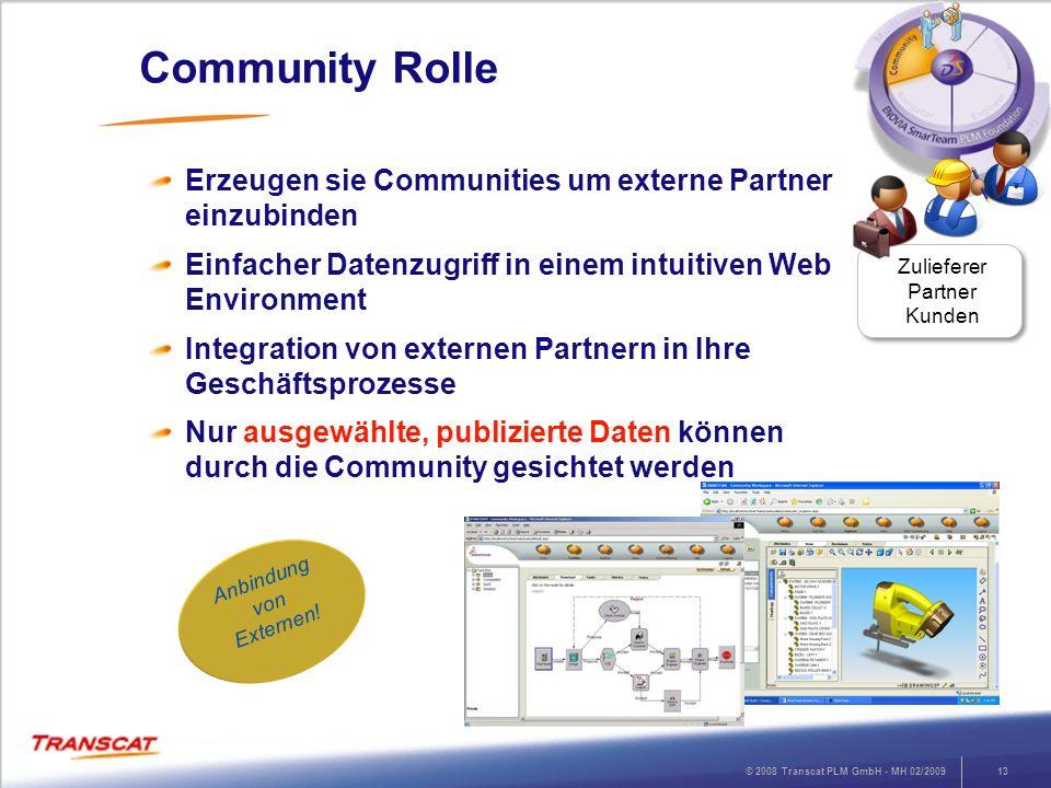 Community Rolle Erzeugen sie Communities um externe Partner einzubinden. Einfacher Datenzugriff in einem intuitiven Web Environment.