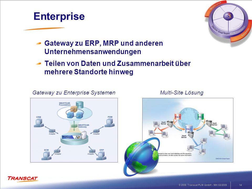 Enterprise Gateway zu ERP, MRP und anderen Unternehmensanwendungen