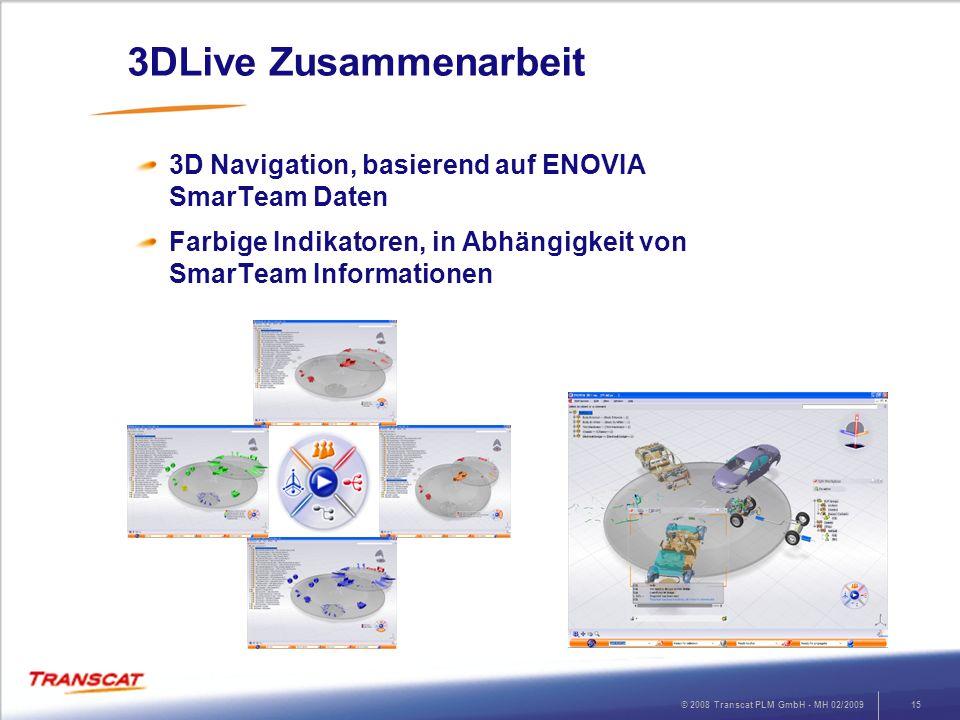 3DLive Zusammenarbeit 3D Navigation, basierend auf ENOVIA SmarTeam Daten.