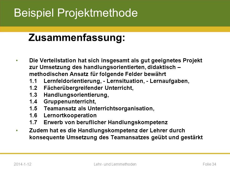 Beispiel Projektmethode