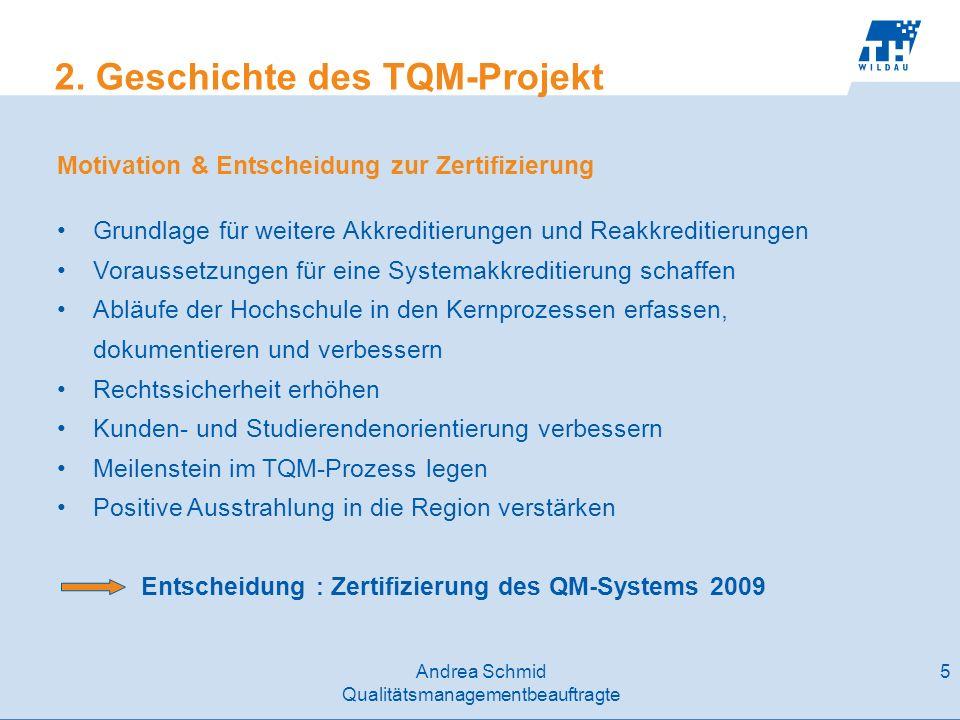 2. Geschichte des TQM-Projekt