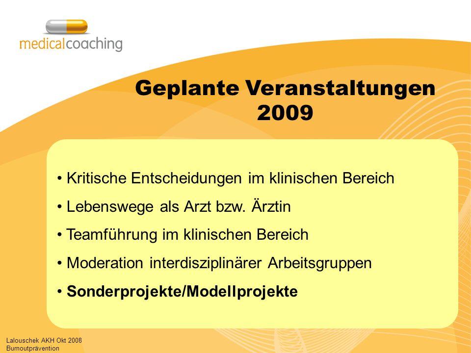 Geplante Veranstaltungen 2009
