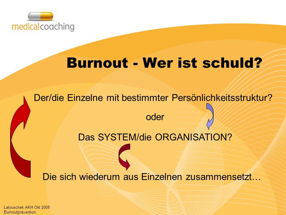Burnout - Wer ist schuld