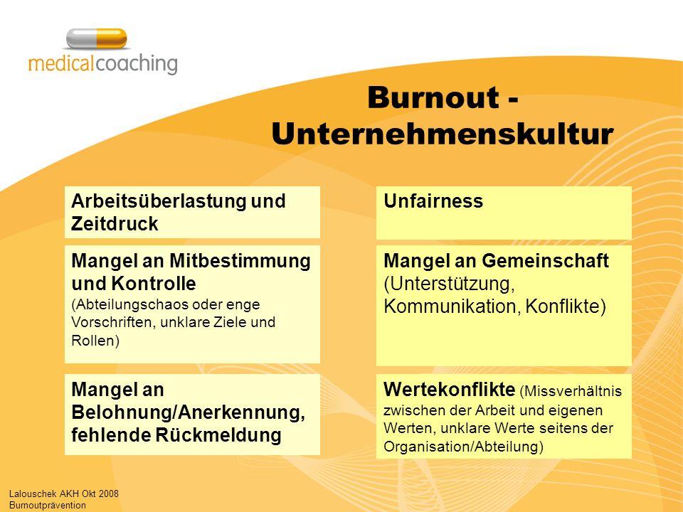Burnout - Unternehmenskultur
