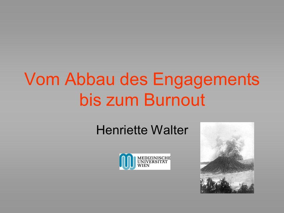 Vom Abbau des Engagements bis zum Burnout